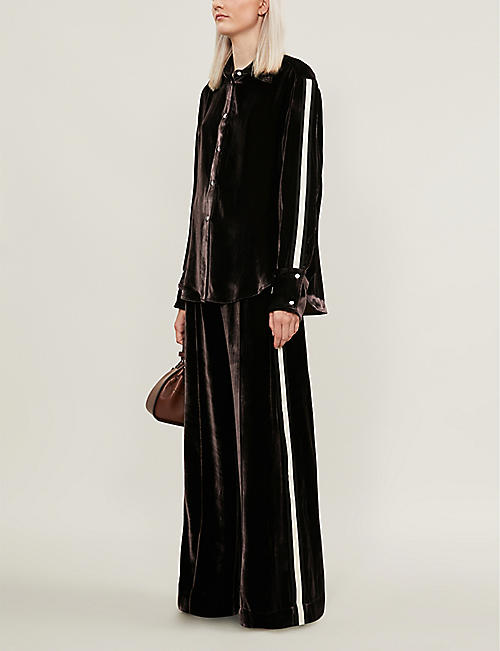 SERENA BUTE LONDON Oversized velvet shirt