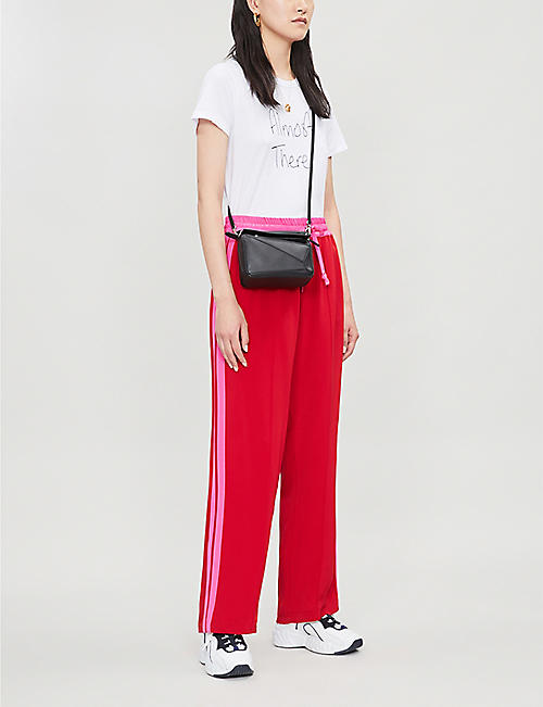 SERENA BUTE LONDON Side-striped silk-blend jogging bottoms