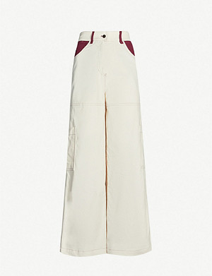 SERENA BUTE LONDON Wide-leg cotton-corduroy trousers