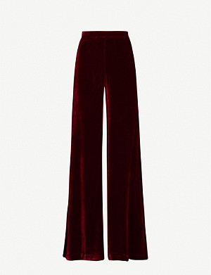 SERENA BUTE LONDON Wide-leg velvet trousers