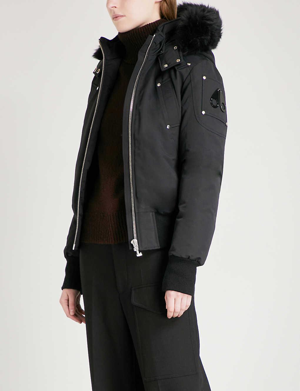 131ee18c316 MOOSE KNUCKLES - Debbie faux-fur hooded cotton-down bomber jacket ...