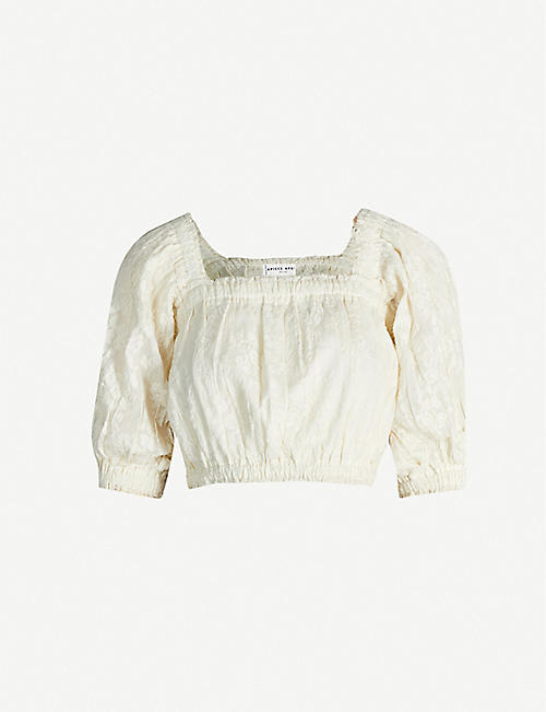APIECE APART Franisca floral-embroidered cotton-blend top