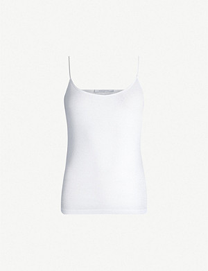 NINETY PERCENT Sleeveless ribbed organic-cotton top