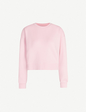 NINETY PERCENT Ginnie cropped organic-cotton sweatshirt