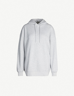 NINETY PERCENT Laura oversized cotton-jersey hoody