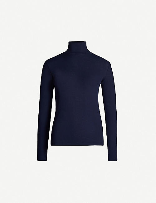 NINETY PERCENT Kaye turtleneck organic-cotton top