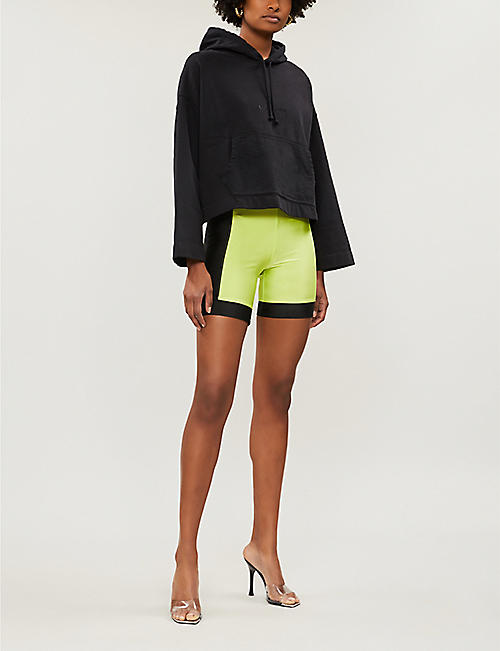 PACSUN Colour-blocked high-rise jersey cycling shorts