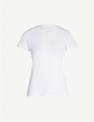 SAMSOE SAMSOE: Round-neck cotton-jersey T-shirt