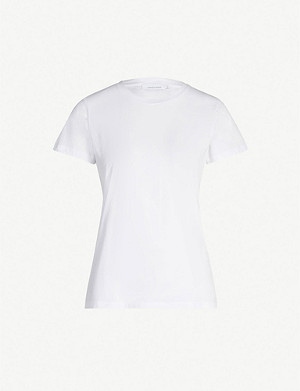 SAMSOE & SAMSOE Round-neck cotton-jersey T-shirt