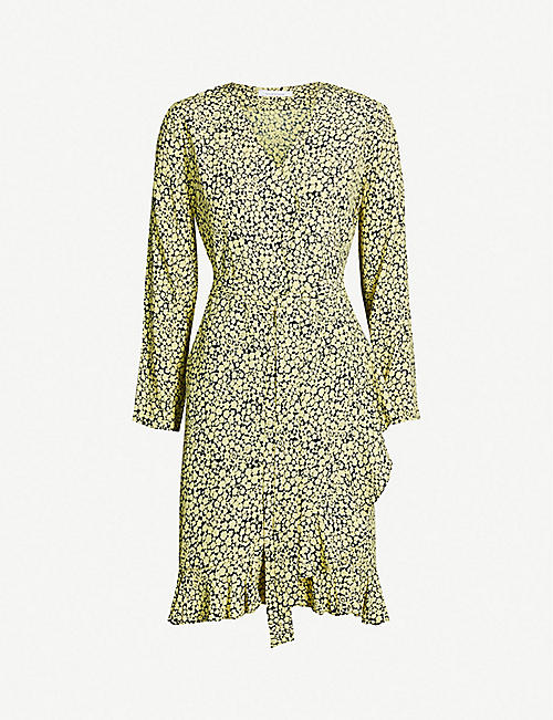 e42935c5a5a1 SAMSOE   SAMSOE Limon frill-trimmed wrap-over woven dress