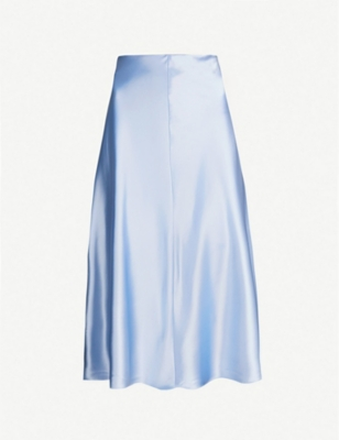 SAMSOE & SAMSOE Heaston flared satin skirt