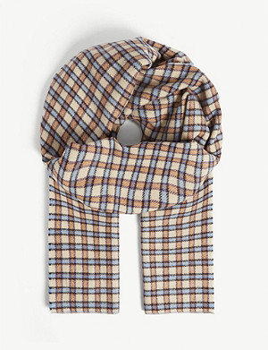 SAMSOE & SAMSOE Acco checked wool and cashmere scarf