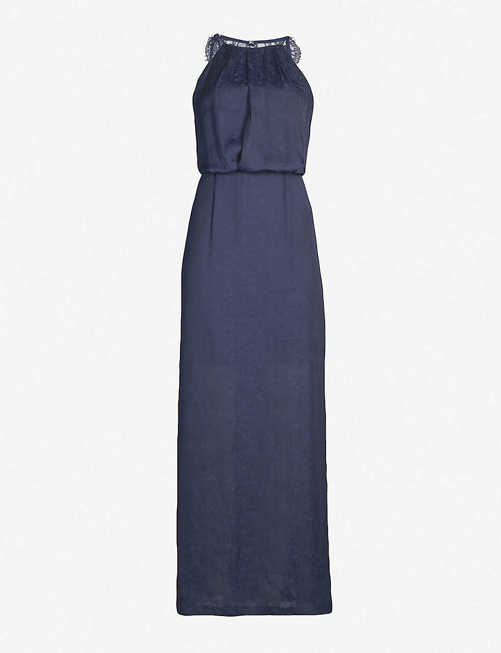 05ba73416c13e2 SAMSOE   SAMSOE - Willow satin and lace midi dress