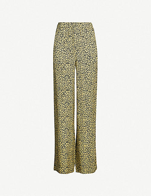 SAMSOE & SAMSOE Imogen high-rise wide crepe trousers