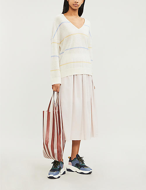 SAMSOE & SAMSOE Nola striped brushed fine-knit jumper