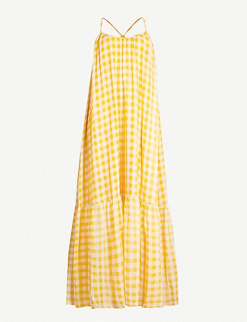 23895504891a SAMSOE   SAMSOE Checked tiered crepe maxi dress