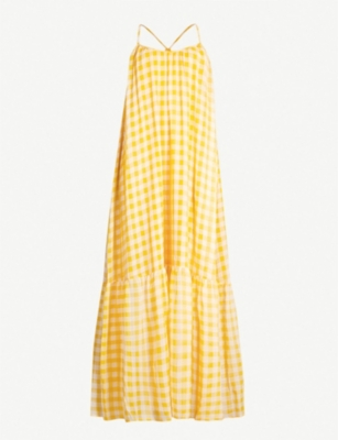 SAMSOE & SAMSOE Checked tiered crepe maxi dress