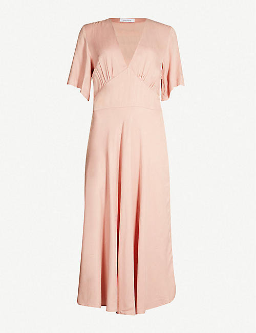 SAMSOE & SAMSOE Cindy crepe midi dress