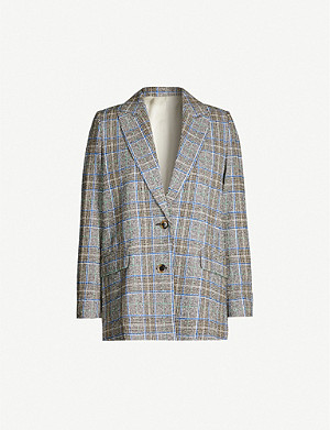 SAMSOE & SAMSOE Barletti checked cotton-blend blazer