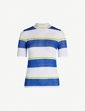SAMSOE & SAMSOE Rho colour-block striped cotton-blend top