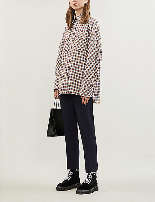 SAMSOE & SAMSOE Mirbelia checked cotton-blend overshirt