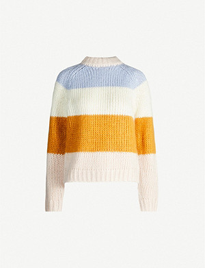 SAMSOE & SAMSOE Simone striped knitted jumper