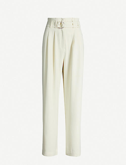 SAMSOE & SAMSOE Mella high-rise wide-leg crepe trousers