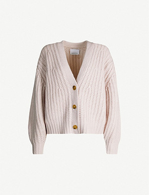 SAMSOE & SAMSOE V-neck chunky-knit wool-blend cardigan