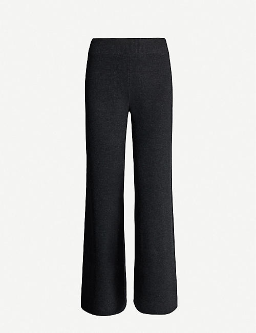 IBEN Mio wide-leg high-rise wool trousers