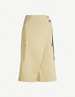 IBEN Sunny high-rise cotton midi skirt