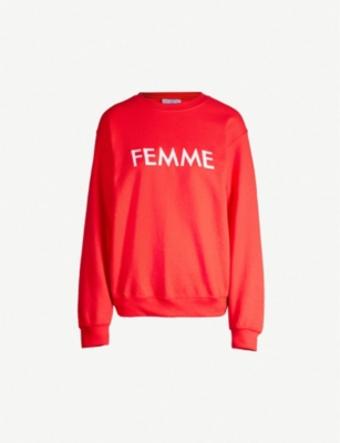 DOUBLE TROUBLE GANG Femme cotton-blend sweatshirt