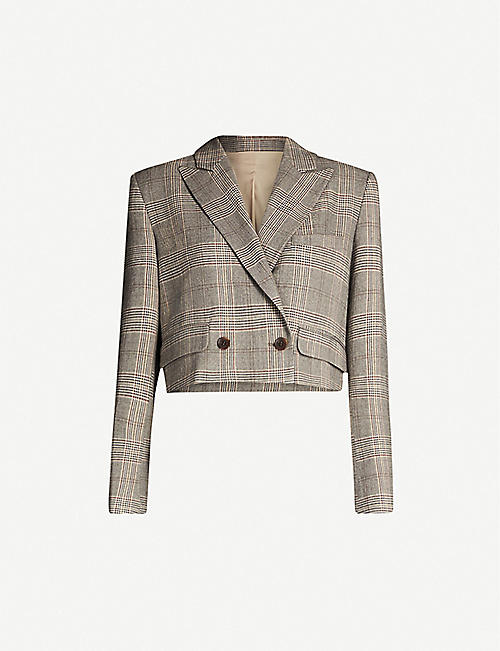 HAPPY X NATURE Tempo recycled-polyester tweed blazer