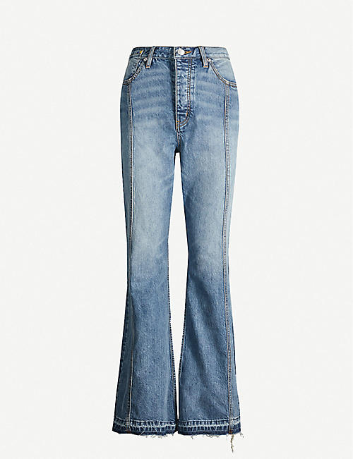 HAPPY X NATURE Flared high-rise jeans