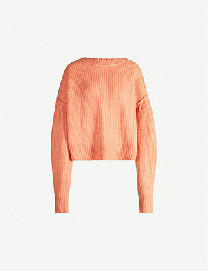 HAPPY X NATURE Halley boat-neck knitted jumper