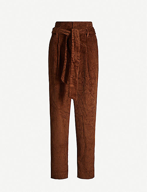 HAPPY X NATURE Explorer tapered cotton corduroy trousers