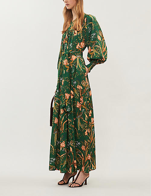 HAPPY X NATURE Muse floral-print recycled-polyester maxi dress