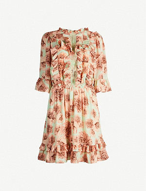 HAPPY X NATURE Lark floral-print recycled-polyester mini dress