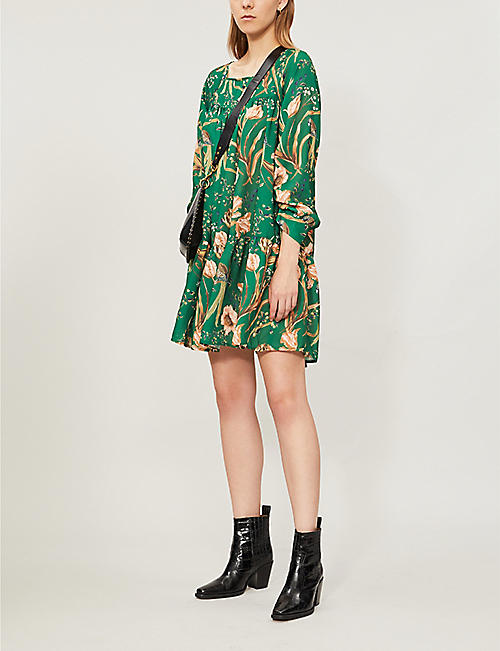 HAPPY X NATURE Luna floral-print recycled-polyester mini dress
