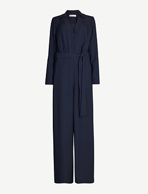 HAPPY X NATURE Gem wide textured-crepe jumpsuit