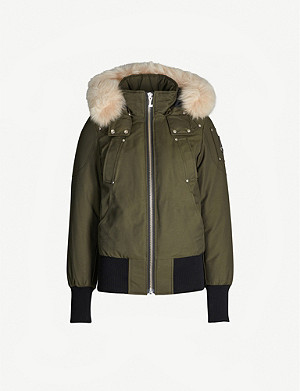 MOOSE KNUCKLES Debbie faux fur-trimmed cotton-blend twill-down hooded jacket