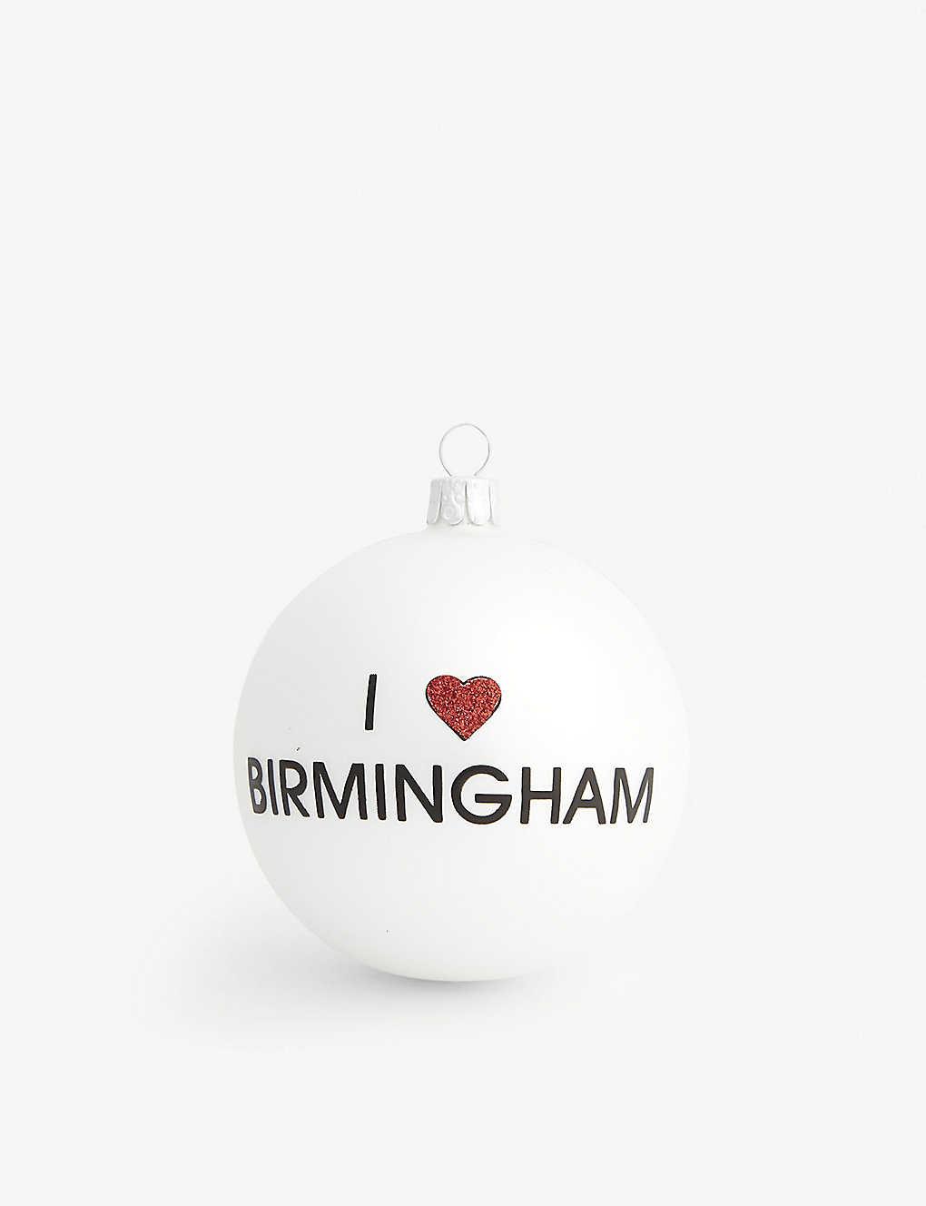 Iheart Christmas.Christmas I Heart Birmingham Glass Bauble 8cm Selfridges Com