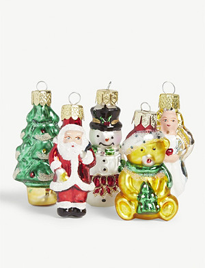 CHRISTMAS Petite Treasures Christmas tree ornaments set of 21