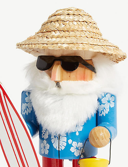 CHRISTMAS Surfing Santa nutcracker 20.5cm