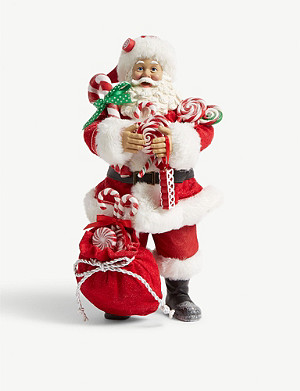 CHRISTMAS Santa with candy sack figure 28cm