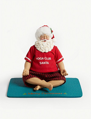 CHRISTMAS Yoga santa and mat decoration 19cm