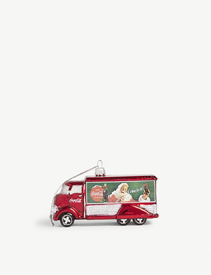 CHRISTMAS Coca-Cola truck Christmas bauble 11.5cm