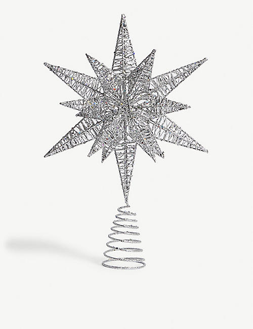 CHRISTMAS Angel star glitter tree topper 41cm