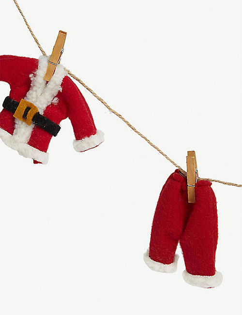 CHRISTMAS Santa washing line Christmas garland 100cm