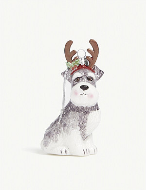 CHRISTMAS Schnauzer Christmas bauble 10cm