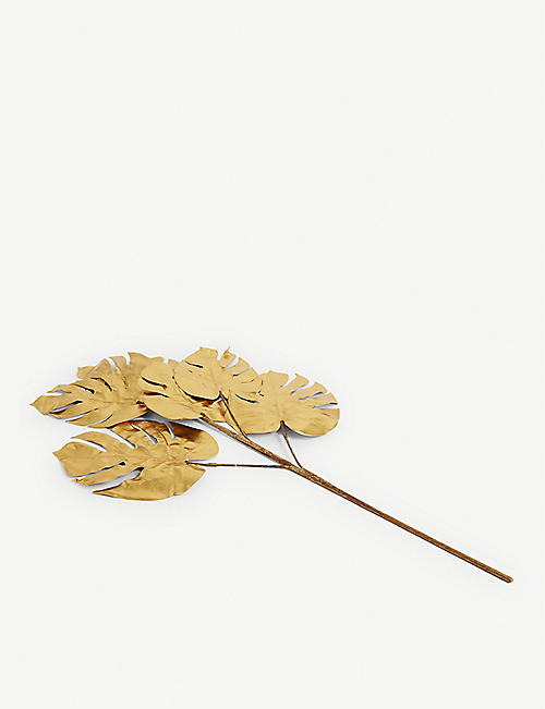 CHRISTMAS Tropical leaf metallic Christmas decoration 99cm